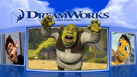Capture du site de Dreamworks Animation